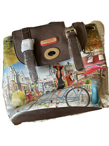 Brand New With tags Nicole Lee Backpack Bicycle Design
