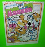 Cosmos Mouser Arcade FLYER Original Video Game Promo Paper Artwork Sheet 1982