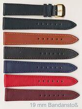 Echtes Kalbsleder-Uhrenband, 16+18+19+20+22+24 mm,