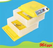 Egg Incubator Hatcher 96 Digital Clear Temperature Control Automatic Turning New