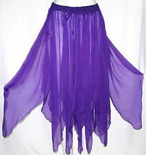 Boho Gypsy Hippie Belly Dance Dancing Festival Fairy Petal Pixie Costume Skirt