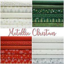 John Louden METALLIC CHRISTMAS Patterned Scandi 100% Cotton Patchwork Fabric