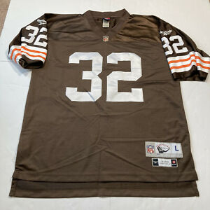 Jim Brown Reebok NFL Cleveland Browns Jersey Mens L Authentic Stitched Gridiron