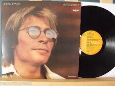 "★★ 12"" LP - JOHN DENVER - Autograph - OIS (Lyrics) - NM"