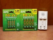 1.6V NiZn Rechargeable Battery AA 4pc & AAA 4pc packs with dedicated charger