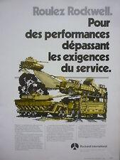 2/1980 PUB ROCKWELL AM GENERAL M915 TRUCK CHAR XM-1 TANK ORIGINAL FRENCH AD