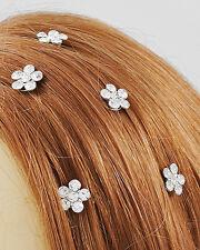 Handmade 6 pcs. Wedding Clear Crystal Hair Twists Hair Accessory
