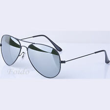 SILVER MIRRORED AVIATOR STYLE REFLECTION SUNGLASSES UV400 DESIGNER UNISEX SHADES