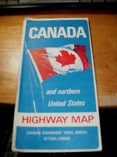 Nice Vintage 1967 Canada Northern Us Highway Map