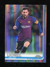 2018/19 Topps Chrome UEFA Champions Lionel Messi Refractor Parallel