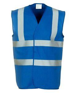 Yoko Blue Adult Hi Visibility Hi Viz Reflective Vest 8 Sizes