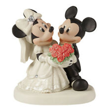 PRECIOUS MOMENTS DISNEY Figurine MICKEY MINNIE MOUSE Statue WEDDING Cake Topper