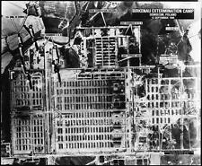 Photo 1944 Sky View Bombing of Auschwitz-Birkenau