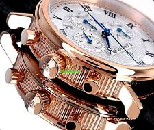 Thomas Earnshaw Men's Beaufort Collection Rose Gold IP Chronograph Luxury Watch