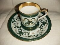 Carl Tielsch antique cup tea pair bone china museum antiques germany 1845