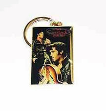 ELVIS PRESLEY IN BLACK 68 SPECIAL COME BACK COLLAGE METAL KEY CHAIN NEW