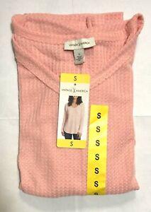 Vintage America Women's Thermal V Neck Knit Top Pick Color & Size
