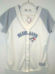Majestic Toronto Blue Jays Women's Cool Base Jersey White Size Large Dot Flaw