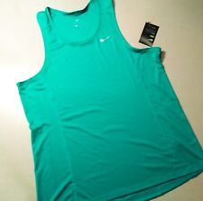 NIKE MILER SINGLET RUNNING TANK TOP SHIRT SIZE MENS XL NWT GREEN 872014-399
