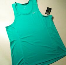 NIKE MILER SINGLET RUNNING TANK TOP SHIRT SIZE MENS LARGE NWT GREEN 872014-399