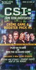 CSI Crime Scene Investigation Crime Game and Booster Pack #1 New Sealed 2004