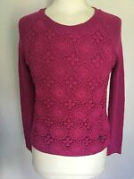 Lipsy Ladies Pink Layered Long Sleeve Top / Jumper Size M. Good Condition.