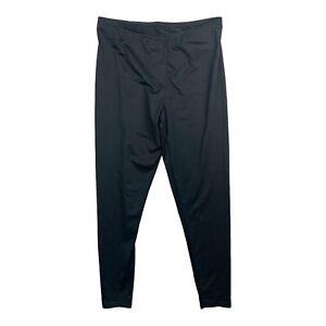 Cuddl Duds Silks Leggings Long Johns Warm Layers Microfiber Stretch Black Medium