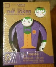 ☆ NEW The Joker Painted Wooden Figure Loot Crate Exclusive DC Collectibles