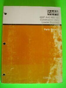 CASE 480F & 480F LL Construction King Loader Backhoe Parts Catalog  8-6220