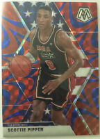 2019-20 Panini Prizm Mosaic Scottie Pippen Team USA Red Blue Reactive SSP #256