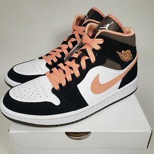 Nike Women's Air Jordan 1 Mid SE Size 12 Shoes Peach Mocha Apricot DH0210-100
