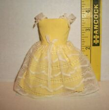 VINTAGE Barbie 1964 SKIPPER FLOWER GIRL DRESS #1904 TLC CONDITION TO BACKSIDE