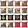 """18"""" Retro Holiday Cotton Linen Sofa Cushion Cover Throw Pillow Case Home Decor"""