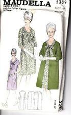 "Maudella Sewing Pattern 5382 Dress & Coat 46"" Bust 20-22 Ladies Vintage Uncut"