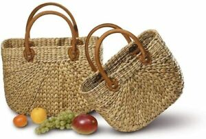 Neustanlo® Einkaufstasche Einkaufskorb Tasche Korbtasche Korb Handtasche Groß
