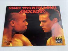 Video Box Office January 1993 Video Catalogue promo slick sleeve rare VHS