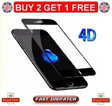 100 Genuine iPhone 8 4d Curved Tempered Glass Film Screen Protector Black