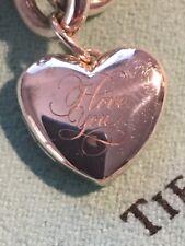 Tiffany sterling silver charm - silver Heart shaped Locket