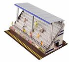 BK6431 1/64 Slot Car HO Modern Bleachers Photo Real Fits Aurora AFX race track
