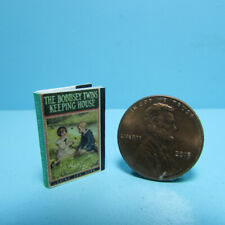 Dollhouse Miniature Bobbsey Twins Keeping House Book with Pages TIN3200