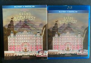 The Grand Budapest Hotel Bluray REGION FREE US IMPORT with rare slipcover