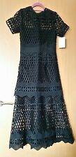 Self Portrait cutwork layered dress size 10 NEW with tags