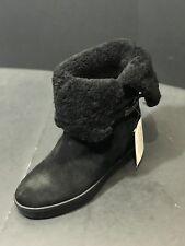 Coach Norell Women's  Black Mid Calf Hidden Wedge Boot Size 7 B New RTL $238