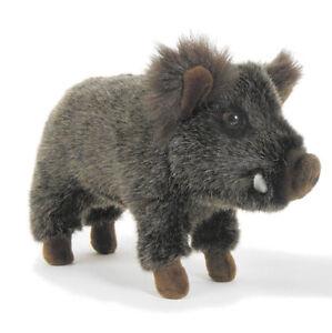 Wild Boar by Hansa - realistic plush pig soft toy - 28cm - HTC2830