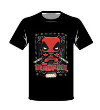 Marvel Red Deadpool Funko Small T-Shirt Pop Style New Black Collector Comics