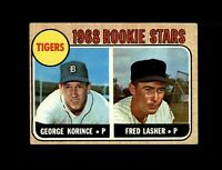 1968 Topps Baseball #447 Tigers Rookie (George Korince Fred Lasher) EXMT