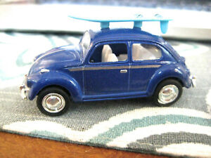 VINTAGE UNKNOWN MAKER PULL-BACK STYLE VOLKSWAGEN BEETLE IN VERY GOOD CONDITION