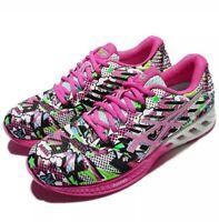 Asics T6K8N FuzeX Pink Green Athletic Running Gym Training Shoes Women Size 11.5