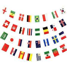 2018 FIFA World Cup Russia Bunting Football Soccer Banner All 32 Teams Flags