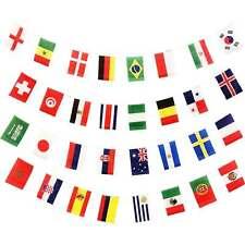 2018 Fifa Copa Del Mundo Rusia Guirnalda Fútbol Banner Todos 32 Equipos Banderas